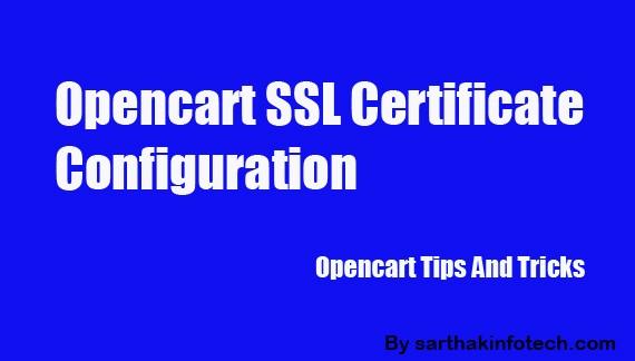OPENCART SSL CONFIGURATION