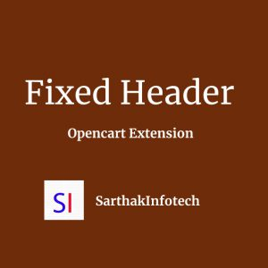 Fixed Header Opencart Extension