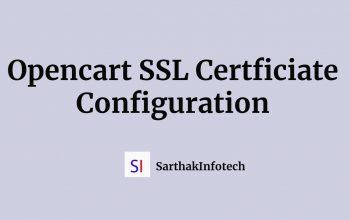 Opencart SSL Certificate Configuration