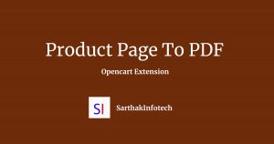 Product Page To PDF Opencart Extension