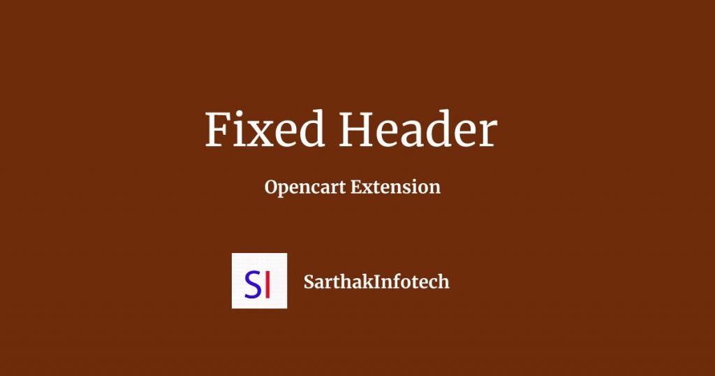 Fixed Header Opecart Extension
